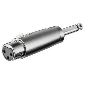 ADATTATORE XLR F/ jack 6,3 mm mono
