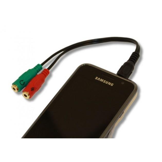 Cavo sdoppiatore microfono e cuffia jack 3,5MANHATTAN mm per smartphone