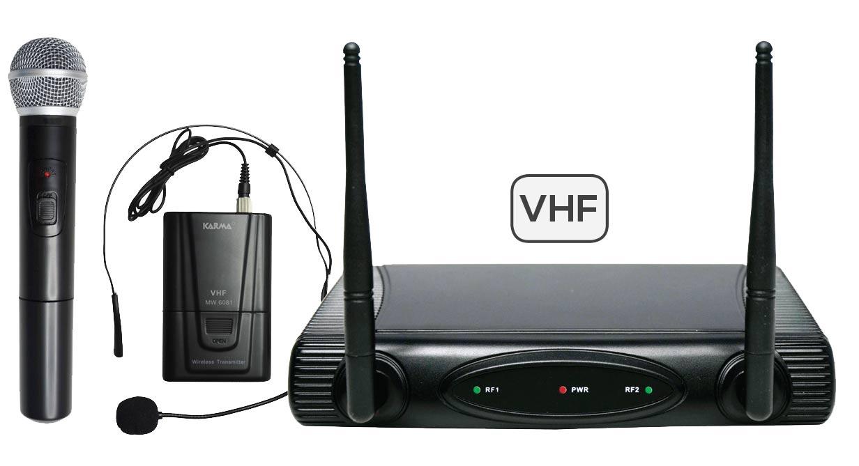 DOPPIO RADIOMICROFONO VHF KARMA SET 6082PL