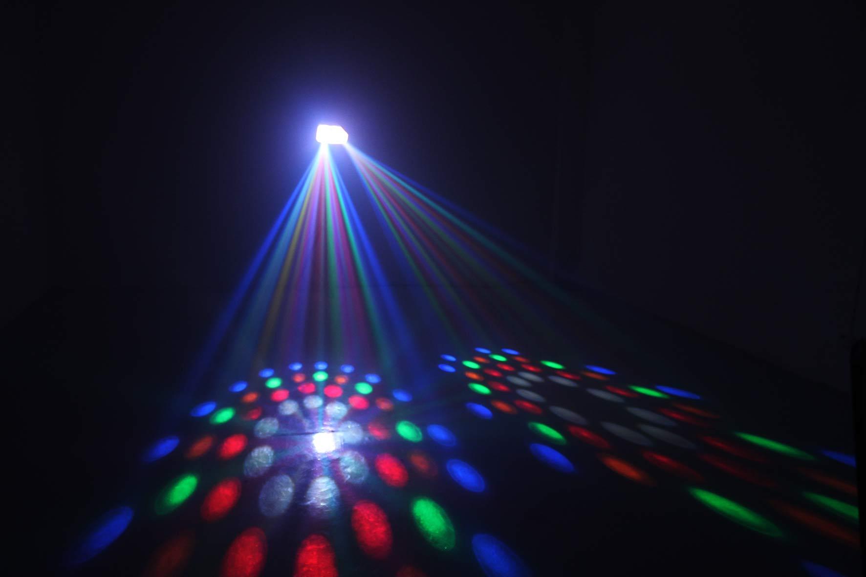 KARMA DJ LED242T - Effetto doppio moonflower trasparente