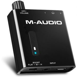 M AUDIO BASS TRAVELER - amplificatore portatile per due cuffie