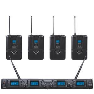 ZZIPP TXZZ642 SET RADIOMICROFONO CON 4 ARCHETTI UHF 16 CANALI