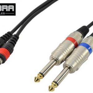 COBRA Cavo 2 X RCA / 2 X Jack 6,35 mono 3 metri COD. CL080-03