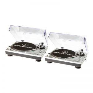 COPPIA AUDIO TECHNICA ATLP120 USB HC SILVER - OTTIMO USATO
