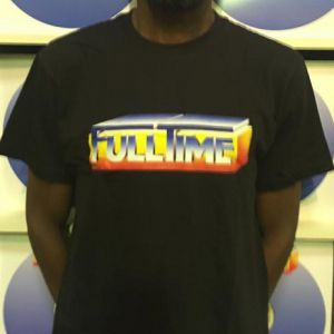 T-SHIRT FULLTIME BLACK (SMALL)