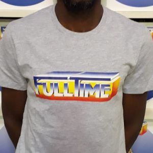 T-SHIRT FULLTIME GREY (LARGE)