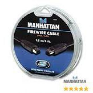 Manhattan, 6 feet FireWire 6-Pin to 6-Pin Cable