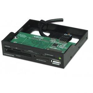 MANHATTAN Lettore interno 60 in 1 interno USB 2.0 Nero alloggio 3.5''